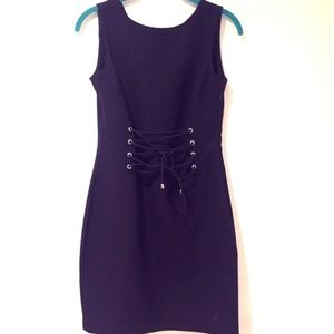 H&M Corset Illusion Lace Up Mini Dress Sz 8